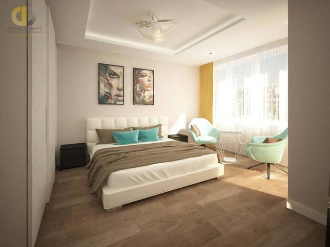 Интерьер спальни в современном стиле в ЖК «Северный Парк»