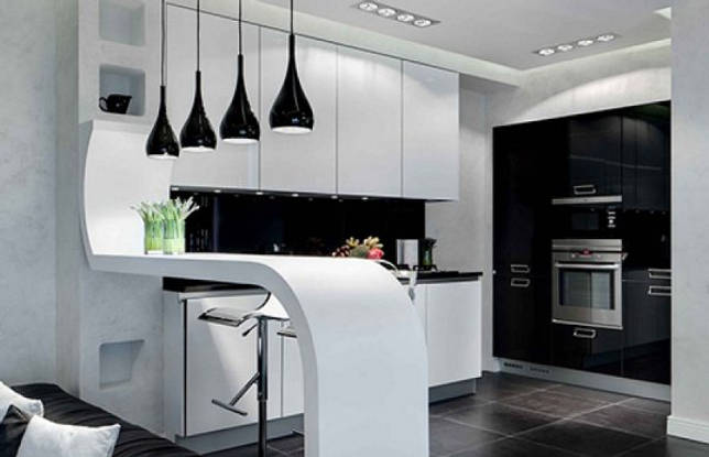 Черно-белая плитка: стильные решения в интерьере