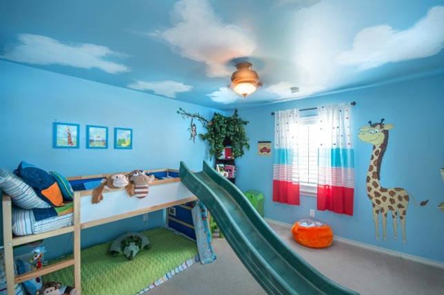 Дизайн детской комнаты: натяжные потолки «твоё небо»