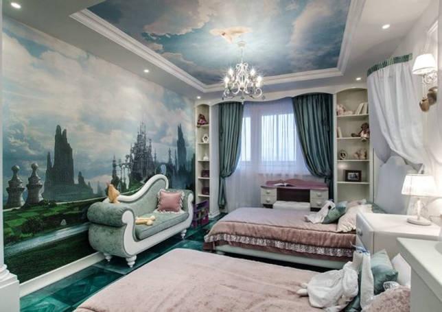 Лаконичный дизайн потолка