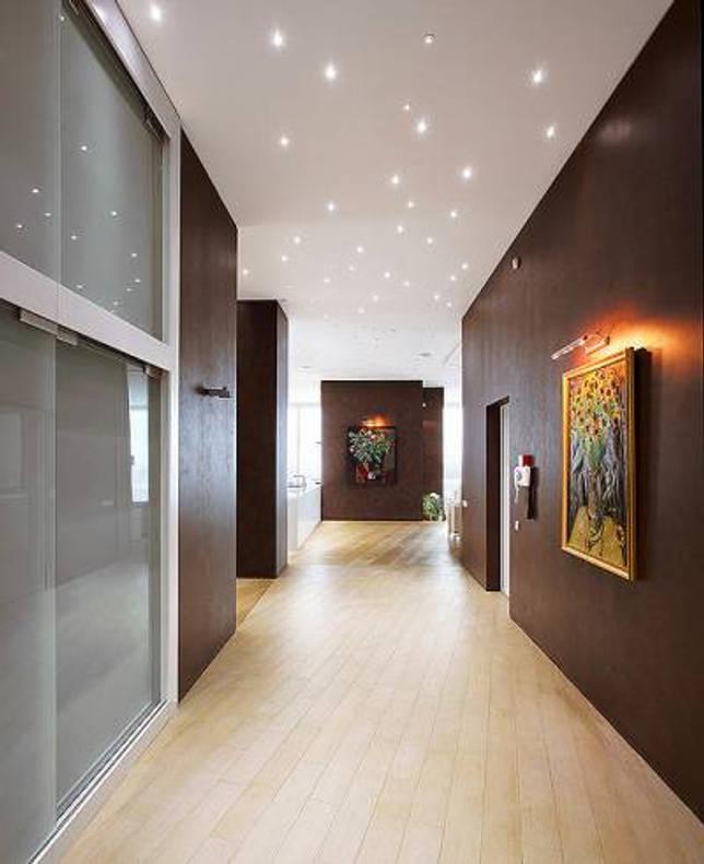 Подсветка потолка светодиодными светильниками